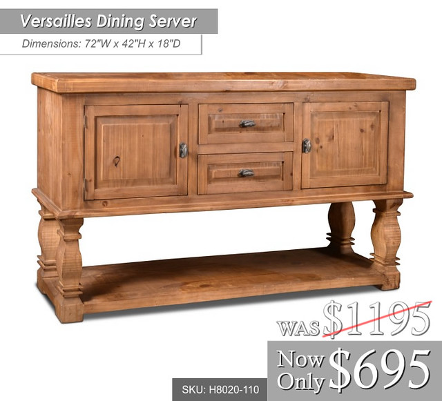 h8020-110_Versailles 72 W x 42 High 18 Deep Reg $1195 now only $695