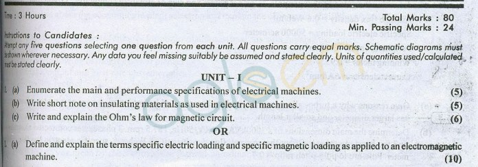 RTU: Question Papers 2014 – 7 Semester - EE - 7E4177