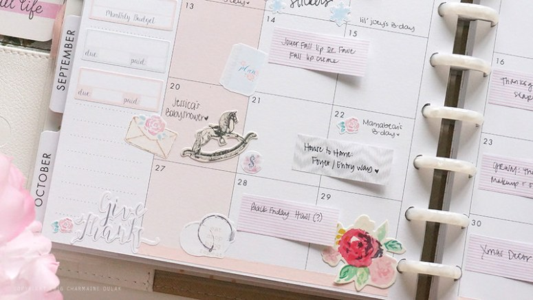 Happy Planner November Set Up