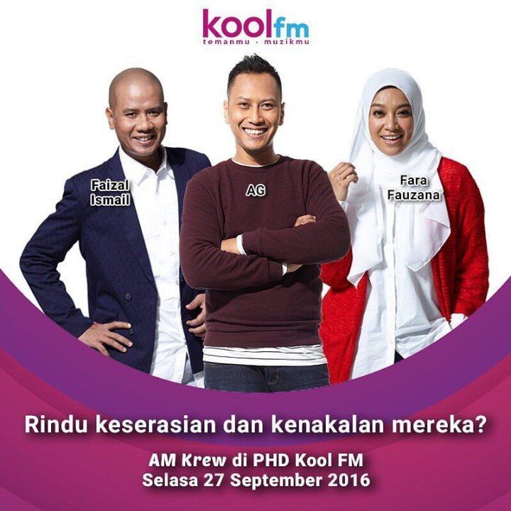 Kool FM - Faizal Ismail, Fara Fauzana & AG Bergabung