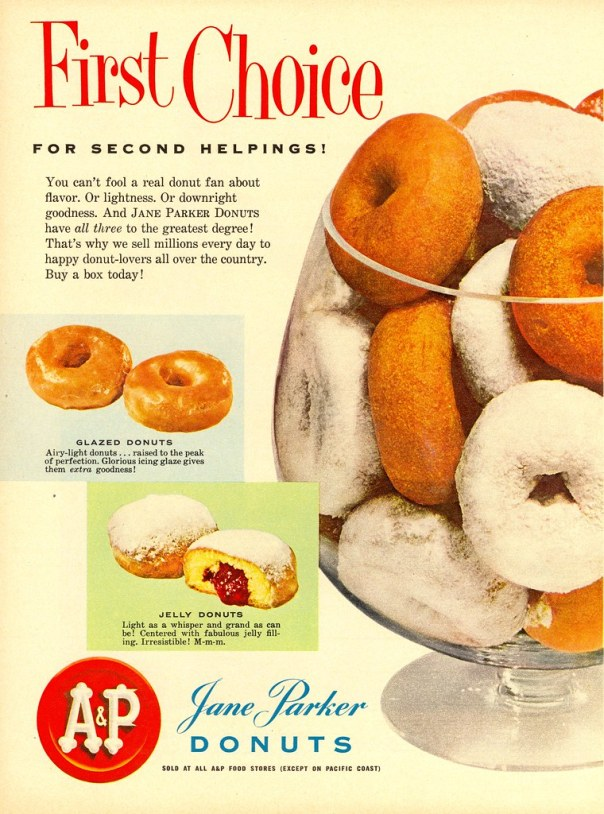 A and P Jane Parker Donuts - published in Woman's Day - October 1955