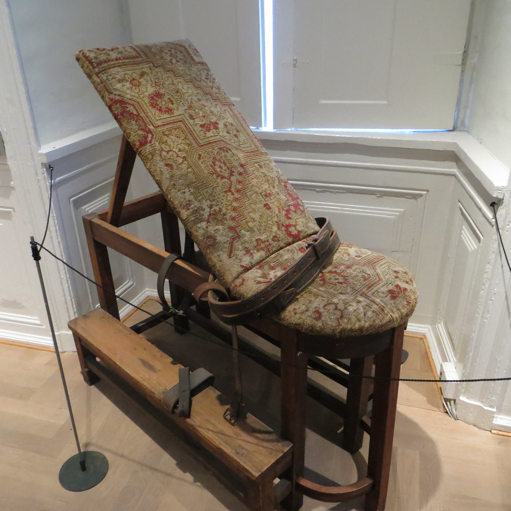 Surgical restraint chair from the preanesthesia era  Flickr