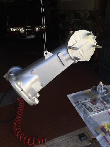 Verniciatura motore Lambretta 150D