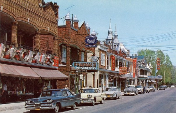 Rue Principale, Louiseville, Québec Canada - 1950s
