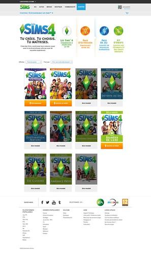 Sims 4 site officiel