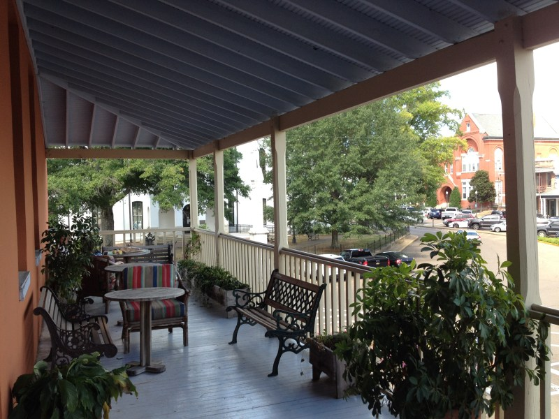 square books balcony
