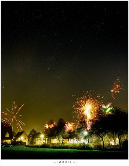 Sterrenfotografie en vuurwerk. Een mooi begin van het nieuwe jaar