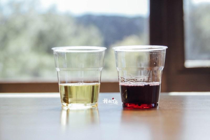 24|玉泉台灣之美試飲品的白葡萄酒與紅葡萄酒
