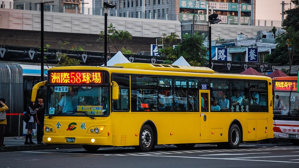 臺中市公車58路(全航客運)DAEWOO BS120CN@臺中火車站   LF Zhang   Flickr