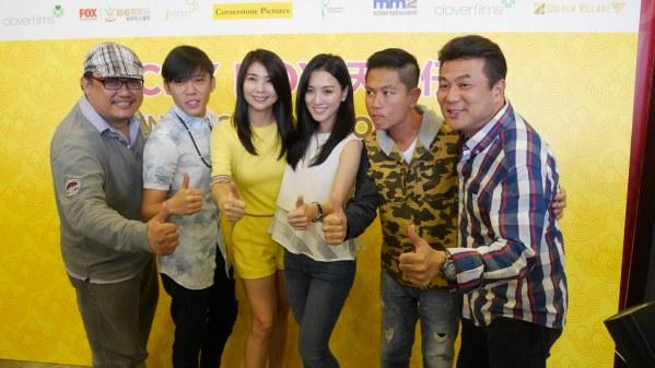 From left: Boris Boo, Wang Weiliang, Chen Xiuhuan, Venus Wong, Chew Chor Meng and Jack Neo.