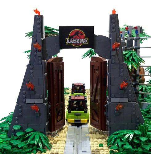 Jurassic Park Gates by Markus Aspacher