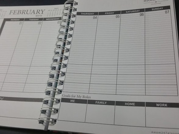 Weekly page-right side