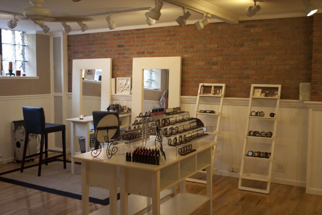 Cosmetics Store with Makeup Artist ChairsStudio  Empty