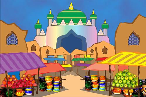 Aladdin Market  Aladdin Market set designbackground
