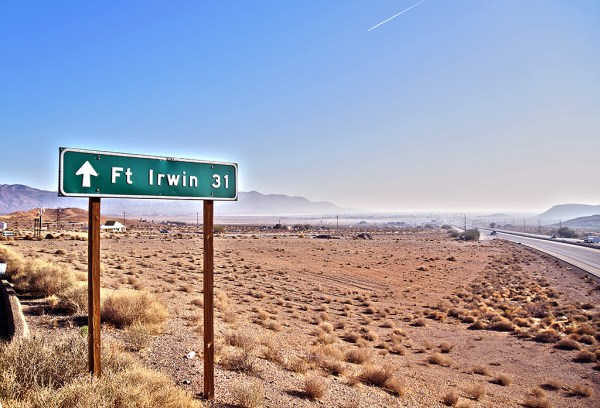Fort Irwin CA From i15 to Fort Irwin a long
