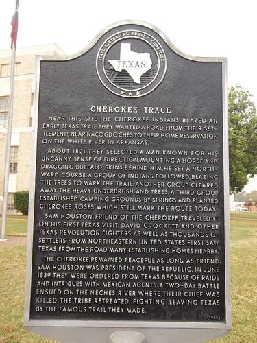 Cherokee Trace Gilmer Texas Historical Marker Near
