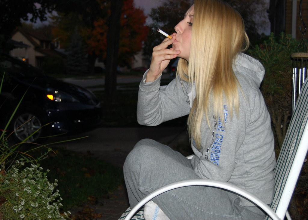 Carrie Smoking  DLSimaging  Flickr