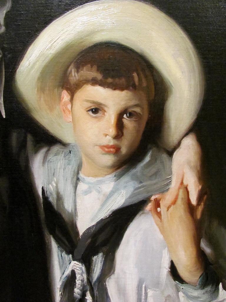 John Singer Sargent Detail Portrait Of Mrs Edward L
