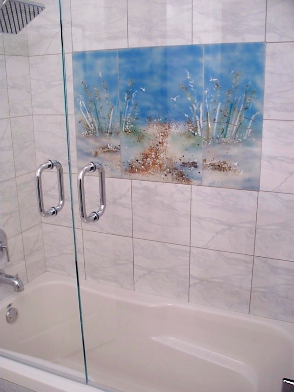 Marble Showertub Glass Mural BeaglesDoItBetter Flickr