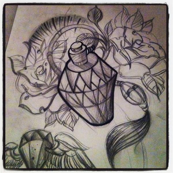 Newschool sleeve sketch tattoo newschool traditional i