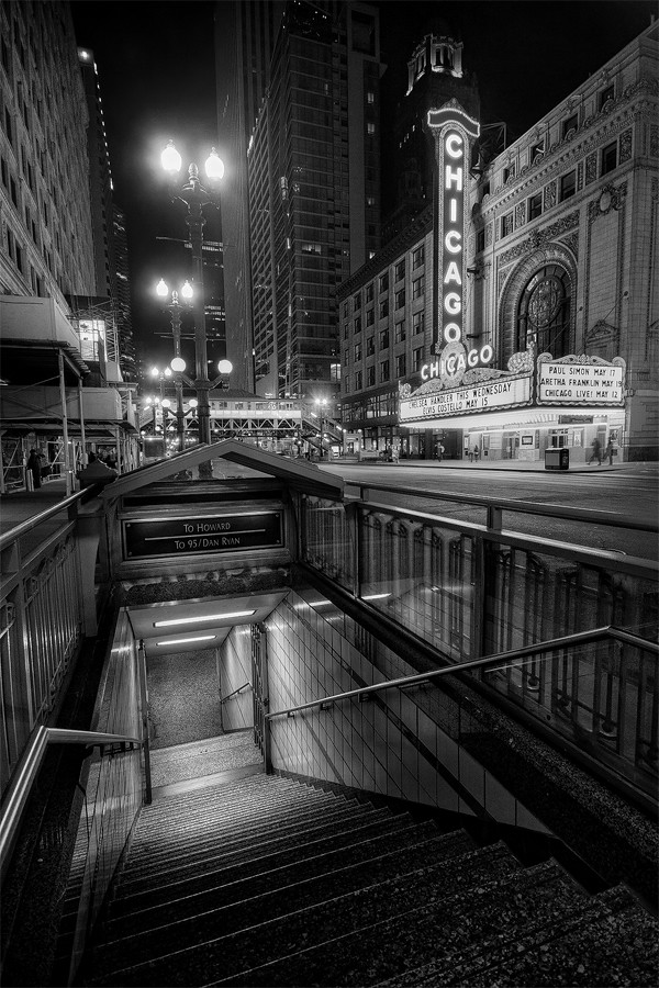 The Chicago Underground  The famous Chicago Theatre seen