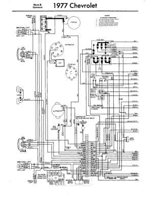 Chevy Nova 1977   Diagrama Electrico Parte 1   76NOVASS