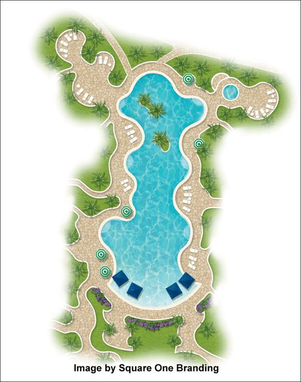 2d Landscape Plan Using Landscape Architecture Symbols