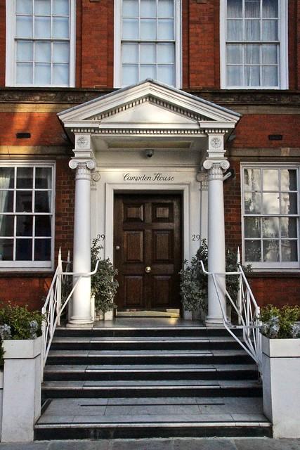 London townhouse entrance