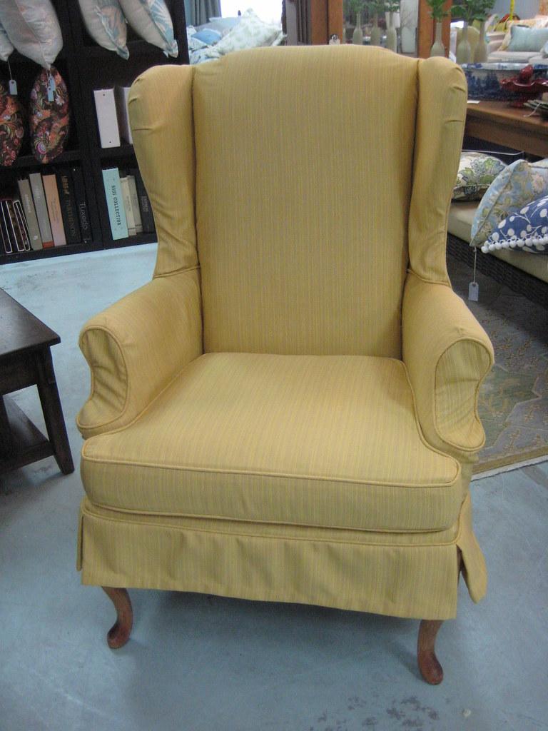 Custom Wing Chair Slipcover in Sunbrella Fabric  A great