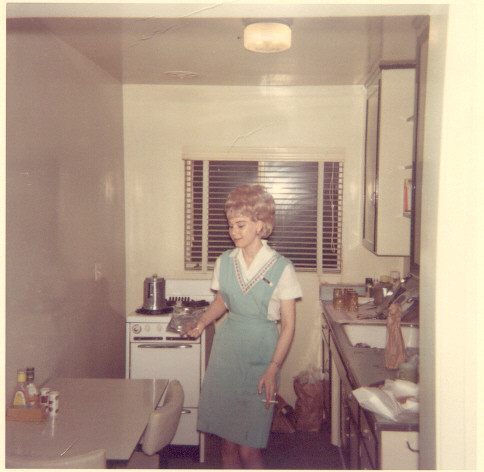Young diner waitress 1969  Found snapshot dated Feb