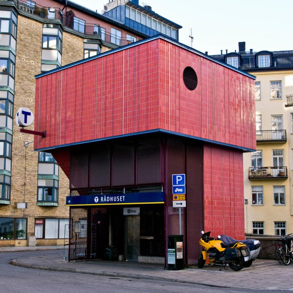 Dhuset Metro Station Stockholm Architect Sl