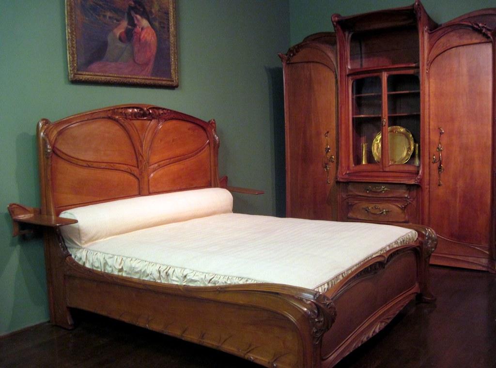 Art Nouveau bedroom furniture by Hector Guimard Explore  Flickr