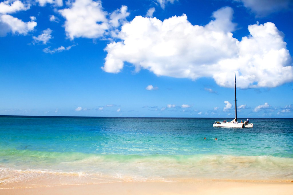 3d World Wallpaper World Beautiful Weather Is The Norm Here Grand Anse Beach