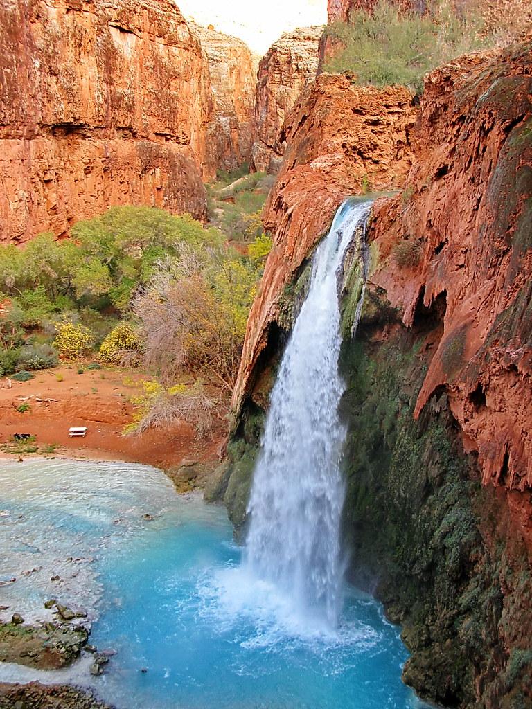 Havasu Falls Arizona Wallpaper Havasu Falls On Path To Campground Grand Canyon From
