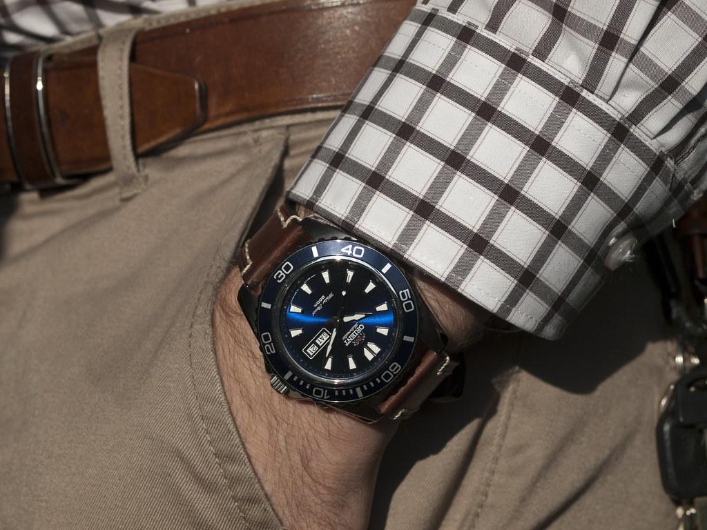 Wrist shot  Orient Mako XL on HIRSCH Liberty  Wrist shot o  Flickr