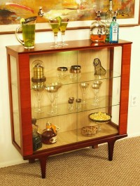 Danish modern Teak bar curio cabinet | Flickr - Photo Sharing!