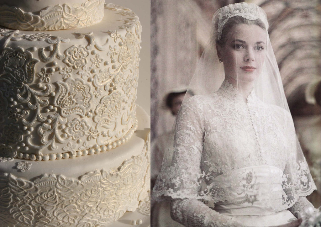 Lace Cake Inspired By Grace Kelly's Wedding Dress