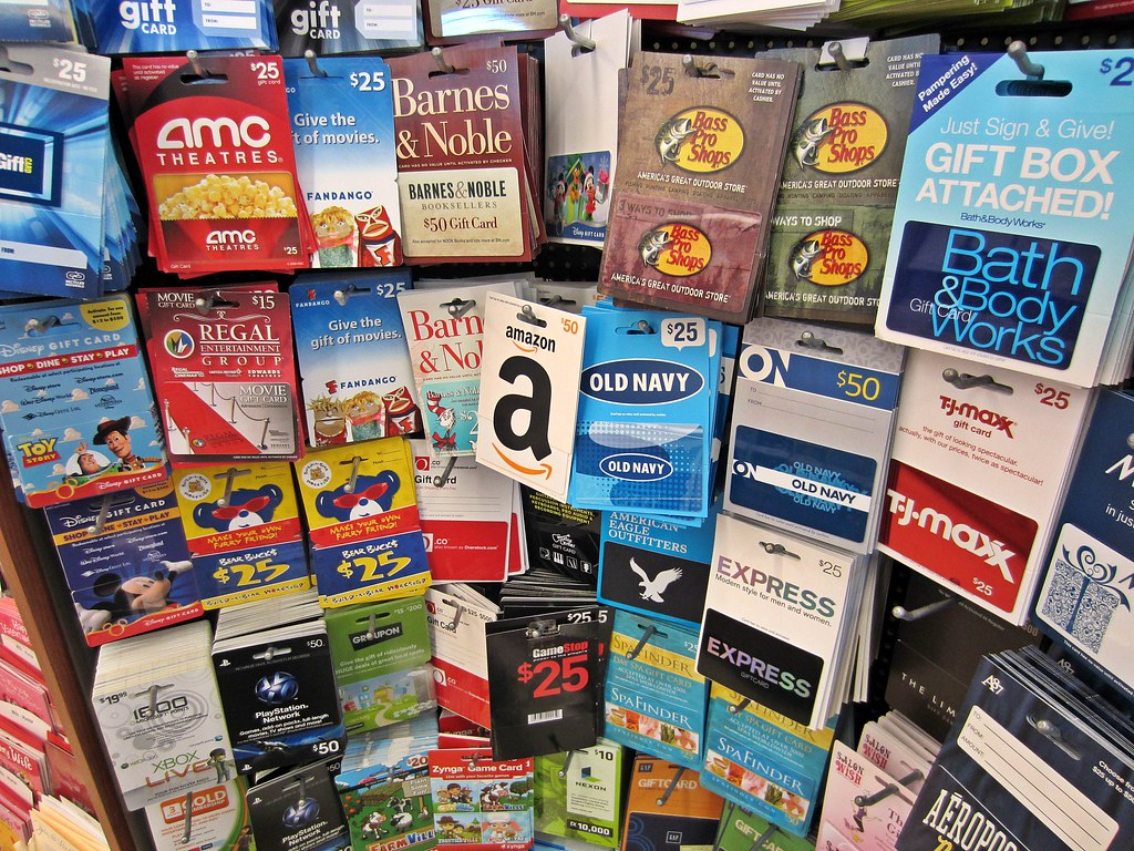 Gift Cards Different Gift Cards On Sale At A Store I Am