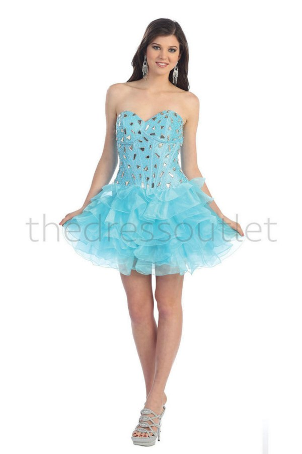 Formal Prom Dress Short Strapless Corset Back Homecoming