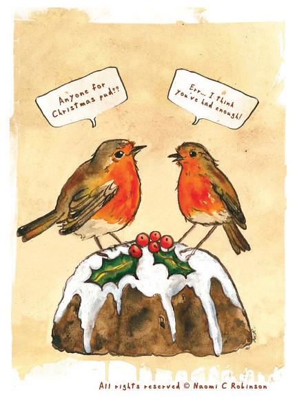 Rude Robins Christmas Pudding So Happy My Rude Robins