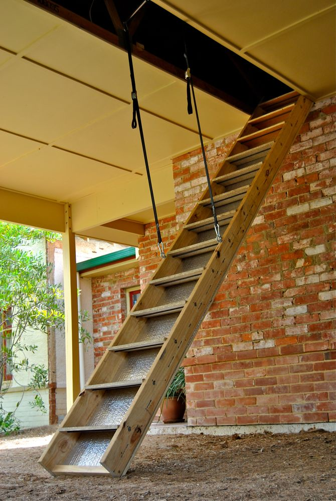 attic stairs  carport ceiling and attic ladder installed  Ian Riley  Flickr