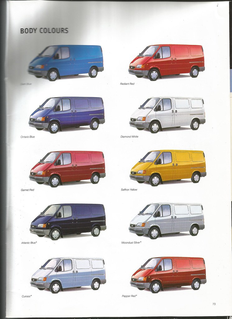 FORD TRANSIT COLOURS I Decided To Follow The Example Of