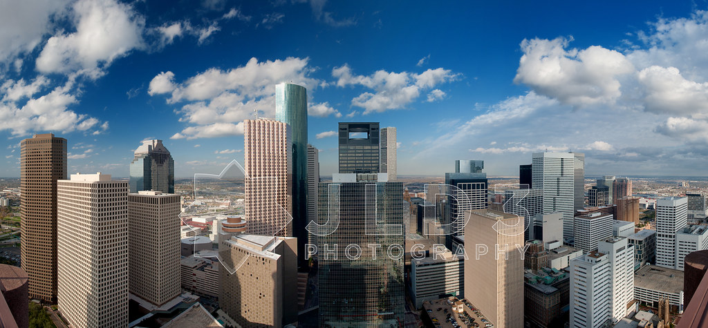 Houston Skyline Panoramic  This is a 13photograph 13c1r