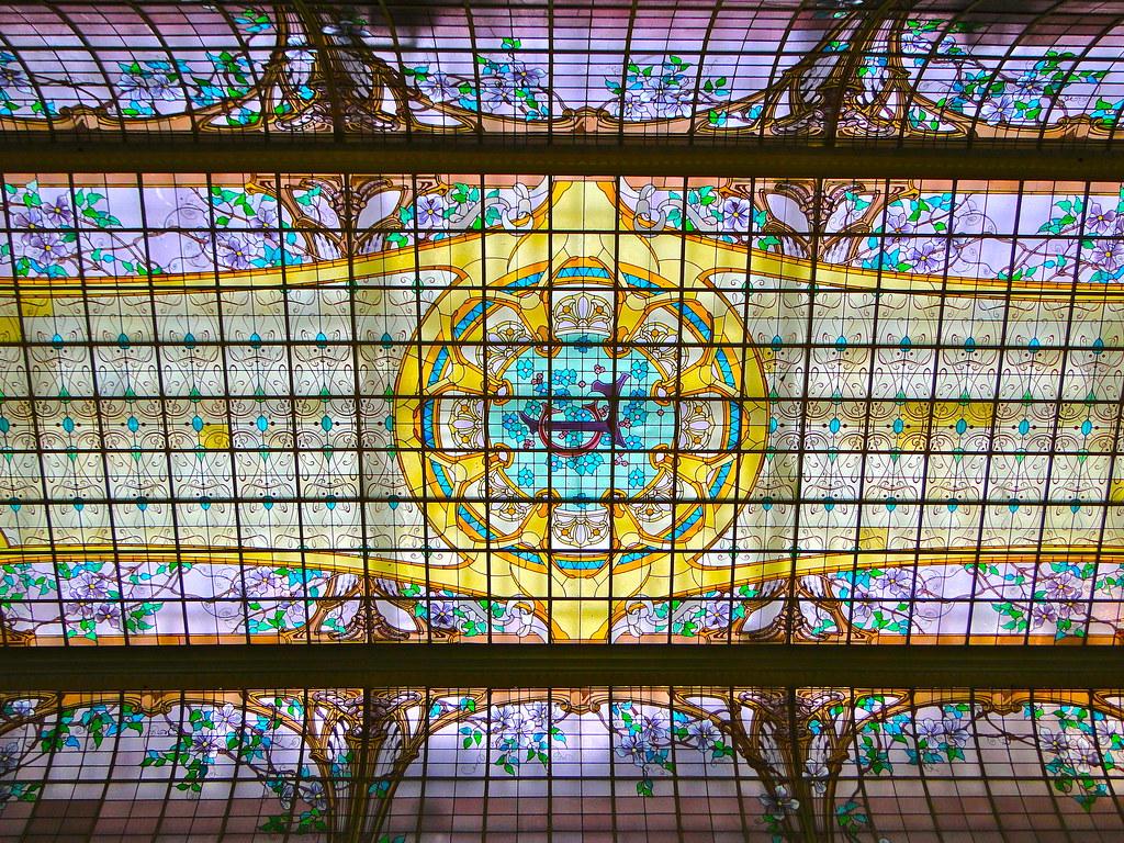 Verrire du Crdit Lyonnais  Cest la verrire du hall ell  Flickr