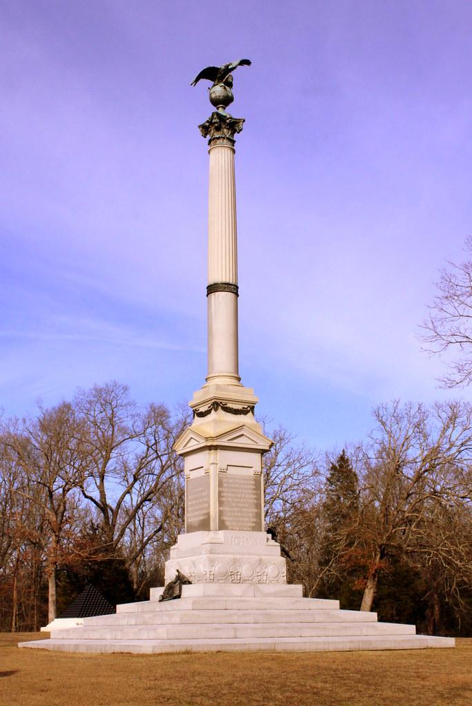 Shiloh Battlefield Iowa Monument The Battle Of Shiloh