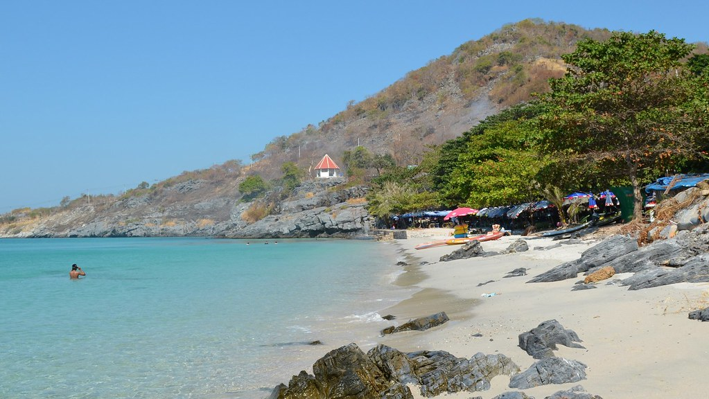 Koh Sichang  Tam Pang Beach  Main beach of the island