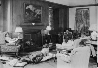 1930s house living room | students and faculty member in ...