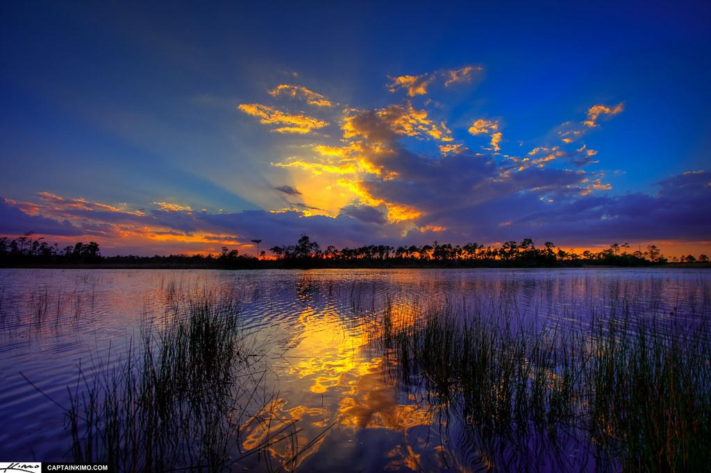 3d Sea Beach Wallpaper Hungryland Slough Wma Jupiter Farms Florida Sunset Flickr