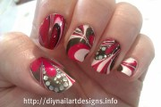diy nail art design water marble