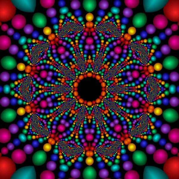 Bead Mosaic Created In Ultra Fractal